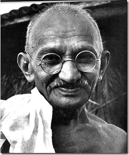 Today is Gandhi's birthday and the International Day of Non-Violence. Celebrate by doing this simple, fulfilling task of peace and love!