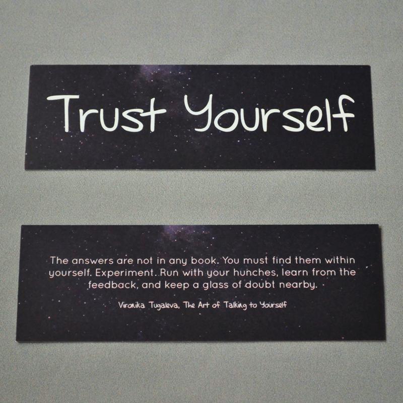 Trust Yourself Bookmark